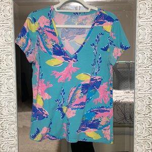 Womens L Lilly Pulitzer t-shirt